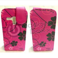 FLOWER DESIGN STYLE PRINT PU LEATHER FLIP POUCH CASE FOR SAMSUNG GALAXY S3 MINI