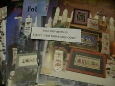 Mill Hill Cross Stitch Booklet Your Choice- Flowers/Samplers/Halloween/Santas/US