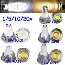 3W 5W 6W 7W 9W COB Sharp MR16 GU10 PAR20 E27 LED Spot Light Warm Cool White Lamp