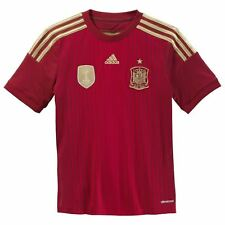 Adidas Spain Home Jersey 2014 Mens Red/Gold Football Soccer Fan Shirt Top