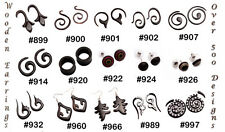 50pcs-100pcs Multi Boho Hippie Stick Ebony Wooden Earrings Wholesale Lot (KJ477)