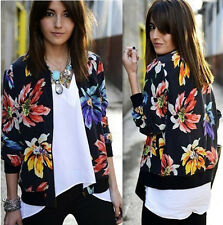 Women's Vintage Floral Casual Long Sleeve Slim Blazer Jacket Suit Coat Outwear