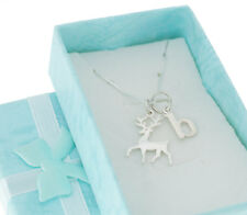 Sterling Silver Deer Buck Stag Charm on a sterling.  Deer Necklace.