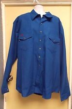 Workrite FRC NOMEX IIIA  Royal Blue Shirts With Snaps FR