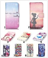 Girl Flip Leather Wallet Case Rubber Cover Stand For iPhone Samsung Sony Huawei