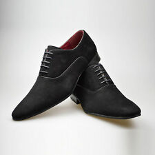 Mens Black Smart Shoes Lace Up Casual Smart Suede Leather Office 6 7 8 9 10 11
