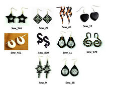 50pcs-100pcs Ebony Boho Hippie Stick Multi Wooden Earrings Wholesale Lot (KJ537)