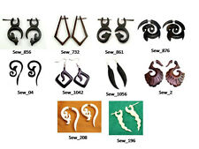 50pcs-100pcs Wooden Hippie Multi Ebony Wooden Earrings Wholesale Lot (KJ541)