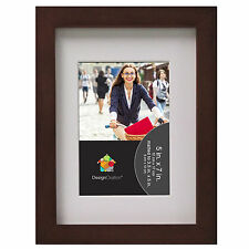 Solid Wood Gallery Picture Frame, Walnut Brown