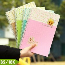 Spiral Coil Flower Plastic Cover Ruled Notebook Diary Journal Note Book Memo 18K