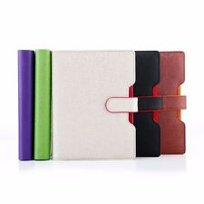 Loose Leaf PU Leather Business Notebook Ruled Diary Journal Note Book Memo Ruler