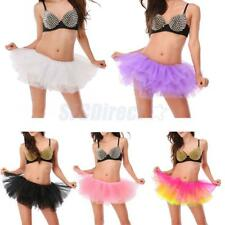 Womens Burlesque Six Tiered Tulle Ballet Dancer Fancy Dress Costume Tutu Skirt