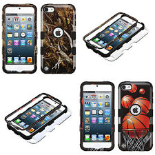 Hybrid Art Collection Defender Series Hard Cover Case Apple iPod Touch 5 6 Gen
