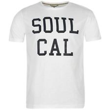 SoulCal Mens Gents Logo T-Shirt Round Neck Short Sleeve Top Clothing