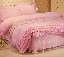 Pink Princess Duvet Cover with Pillow Case Quilt Cover Bedding Set