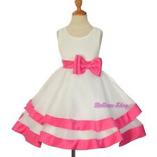 Princess Style Tiered Dresses Wedding Flower Pageant Girl Kids Size 2T-9 FG310