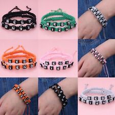2pcs Sale Hand Woven Bracelets with Best Friends Wristband Rope Bracelet Fashion