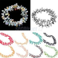 96Pcs Rhinestone Droplets Spacer Loose Beads Strand for DIY Jewelry & Crafts 6mm