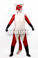Latex/Rubber Inflatable Fox Catsuit Outfits, Inflatable Animal Body Suit