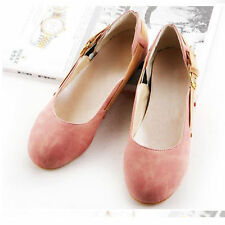 Womens Shoes Ballet Flats Comfort Buckle Loafers Scrub Leather Pumps Cute OL