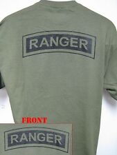 ARMY RANGER T-SHIRT/ MILITARY/ NEW/ OD GREEN/ TAN/ GRAY