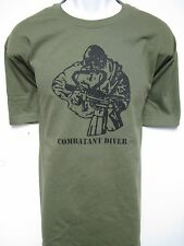 USMC RECON T-SHIRT/ MCD/ COMBAT DIVER/ NEW/ MILITARY
