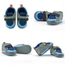 New Arrived Baby Boy Crib Shoes PreWalker Sneakers Size 0-6 6-12 12-18Months