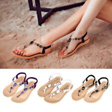 1Pair Women Soft Thong Shoes BOHO Diamond Flat Flip Flops Flattie Sandal Slipper
