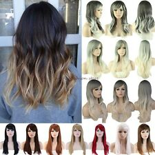 Long Curly Straight Full Head Wigs Cosplay Party Fancy Dress Charming Hairstyle