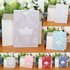 10 Set Laser Cut Bride Groom Vintage Wedding Invitation Cards Envelopes Seals