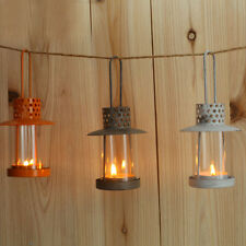 Retro Metal Candle Holder Candle Lamp Light Box Hanging Home Decor