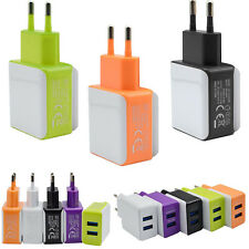 Fast 3A 2 Ports EU Plug USB Wall Travel AC Charger Adapter For Samsung Galaxy S7