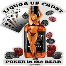 3M Reflective Window Decal Liquor Up Front Poker In The Rear Cards Ace Sticker