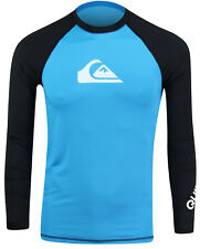 Quiksilver All Time Long Sleeve Rashguard (Blue/Black)