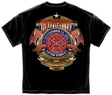 9/11 We will never Forget - Honor Service Sacrifice Firefighter EMT EMS 343 911