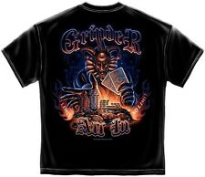 Grinder All In No Limit Wicked Gambler Spades Poker Chips Cards Vegas Tshirt