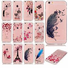 Ultra slim patterned fitted phone case protect skins soft TPU Transparent rubber