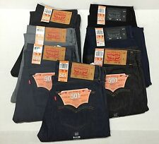 LEVI'S 501 BUTTON FLY SHRINK TO FIT JEANS STRAIGHT FIT ORIGINAL 100% AUTHENTIC