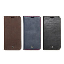 Zenus Buffalo Leather Protect Card Slim Diary Cover Case For Samsung Galaxy S7