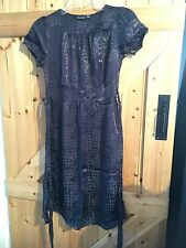 """Pretty Little Navy Spotted Dress Size 10 Chest 32"""".  So More Of 8 By Atmosphere"""