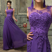 LACE Bridesmaid Dress Formal Evening Party Long Wedding Prom Gown PLUS SIZE 2-24