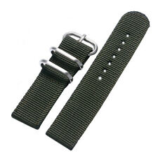 Nylon Fabric Canvas Wrist Band Strap 7 Colors 20mm 22mm Military Sport Army