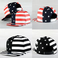 Unisex American Flag Hiphop Bboy Hat Adjustable Flat Snapback Baseball Dance Cap