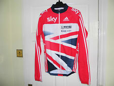 NEW SKY RED TOP team GB LS cyling bike jersey rider issue top shirt BNIB adidas