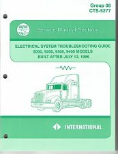 International Truck Electrical Troubleshoot Manual 1997 5000 9200 9300 9400 NOS