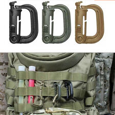 Molle Tactical Backpack EDC Shackle Snap D-Ring Clip KeyRing Carabiner 9c