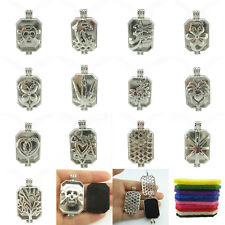 Dull Silver 31mm Pad Skull Flowers Dolphin Pendant Locket Aromatherapy Diffuser