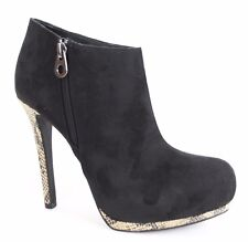 Sofia Vergara Womens Black Faux Suede Stiletto Boots Ankle Booties Sizes 6