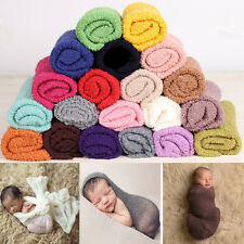 New Newborn Baby Stretch Textured Knit Rayon Wrap Cocoon Photo Photography Prop