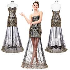 Stock Long Sequins Bridesmaid Gown Party Prom Evening Formal Dress Cocktail Gown